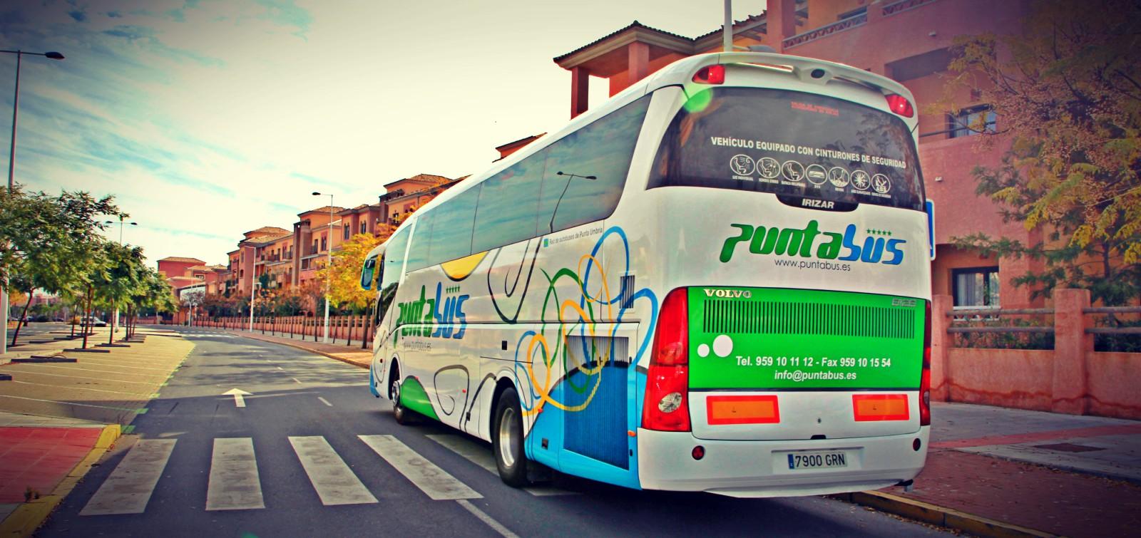 puntabus autobus discrecional congresos circuitos rutas escolares transfer aeropuertos